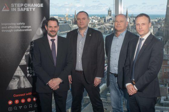 (L-R) Matt Rhodes, Craig Wiggins, Bob Fennell,  and Mark Hobbs. Picture by Abermedia / Michal Wachucik