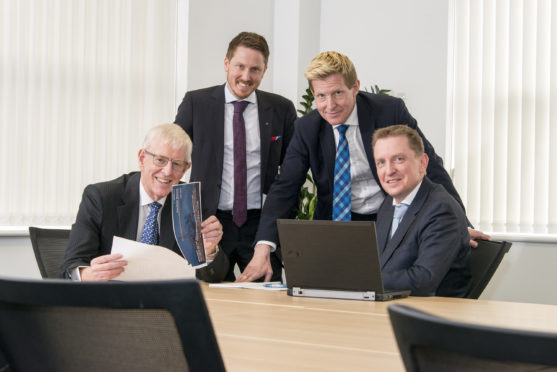 From left to right: Ian Sharp, chairman, Odd Magne Grøntved, finance director, Graeme Fergusson, managing director, and Ronald van Waaijen, commercial director.