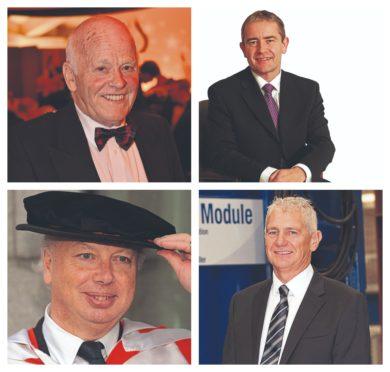 Clockwise from top left: Jim Milne of Balmoral Group,  Parkmead founder Tom Cross, Alasdair Locke founder of Abbott Group and Steven Ferguson of Ferguson Group