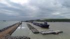 MV Beltnes arriving at the South Harbour expansion.