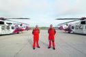 Inverness SAR pilots John Hancock and Tom Greene