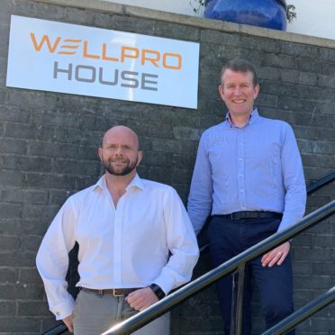 Wellpro Group operations director Grant Forsyth (left) and CEO Jim Thomson.
