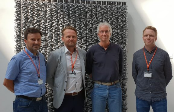 Photo caption: L-R: Roger Wiik (Project Manager); Thomas Skattum (Business Development Manager); Andy Clark (Exploration Operations Manager LUNDIN); Carl Bentzroed (Business Line Manager Seabed Survey).