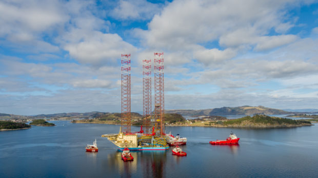 The Maersk Invincible drilling rig