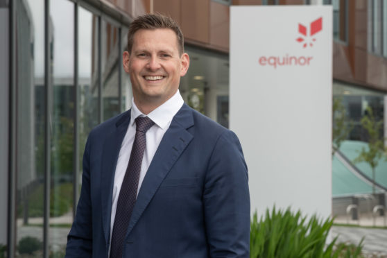 Arne Gurtner, senior vice president for UK and Ireland Offshore at Equinor. Picture by Abermedia.