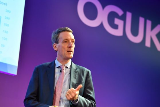 Andy Samuel at the Oil and Gas UK conference.