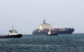 Two tankers were evacuated after an explosion.