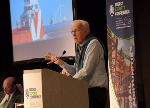 """Sir Ian Wood touted the idea of a """"major Aberdeen energy transition park"""" in June."""