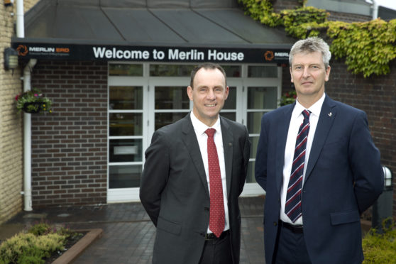 Ian Hutchison (left) and Ron Ramage of Merlin ERD in Perth Picture by Graeme Hart.
