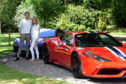 Ross Gatt and wife Candice organise the annual SuperCLAN event. Pictured with a Ferrari 458 Speciale and a McLaren 600LT. Picture by Jim Irvine.