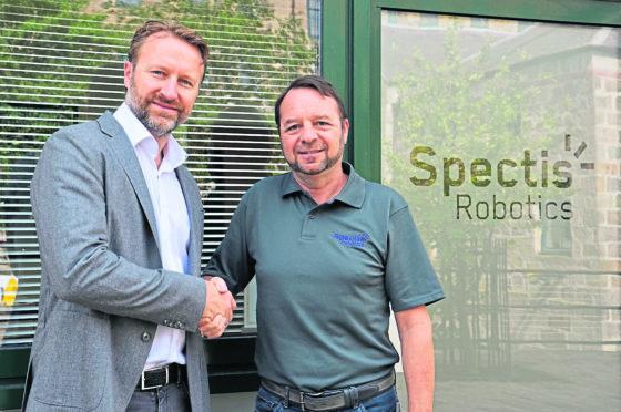 Picture (L-R): Marcus Jocham, head of business development at Dekra Visatec, and Brian Storie, managing director of Spectis Robotics.