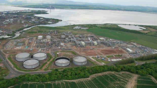 The Kinneil gas terminal. Ineos.