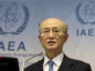 FILE - In this Nov. 22, 2018, file photo, International Atomic Energy Agency (IAEA) Director General Yukiya Amano of Japan. (AP Photo/Ronald Zak)