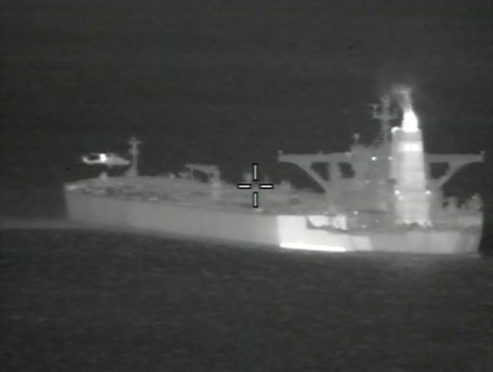 A Ministry of Defence image of the supertanker Grace 1, which has