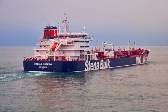 SEIZED: Iran's Revolutionary Guard has been holding the UK-flagged oil tanker Stena Impero since July 19