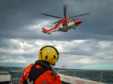 An offshore search and rescue operation. Photo credit Sean Harrower.