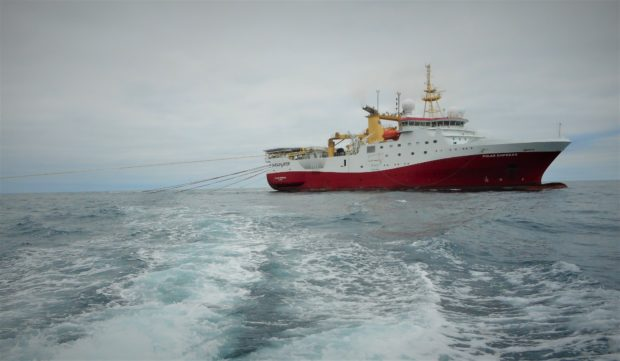 Shell has finished acquiring new seismic data on the Pensacola prospect. Pictured is the Polar Empress vessel from Shearwater GeoServices.