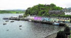 Skye Tourist Filers.  Portree harbour and bay.