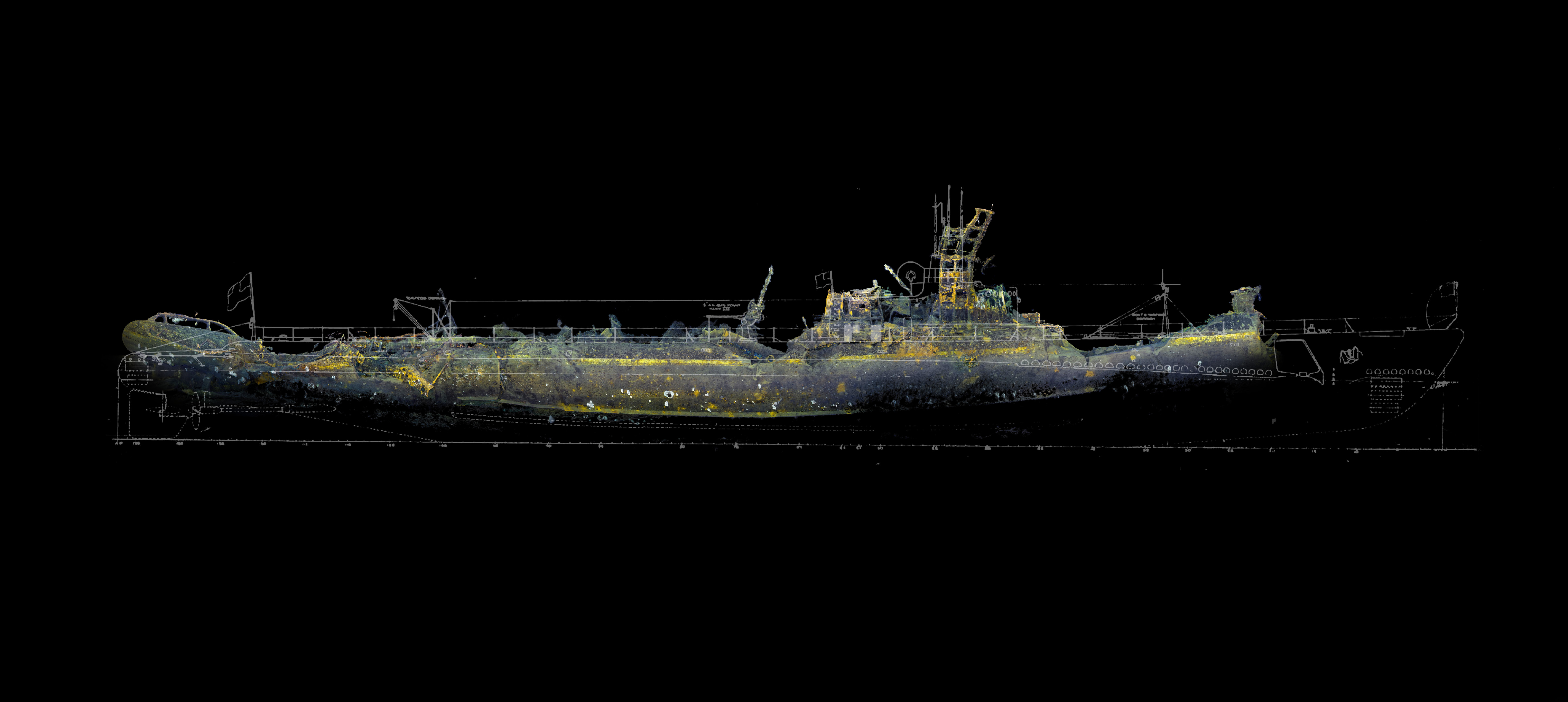 USS Grunion stern section