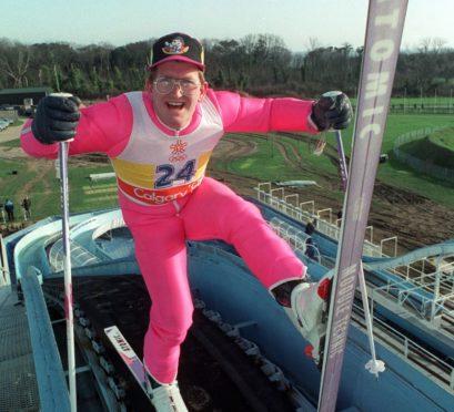 File photo dated 22-01-1992 of British Olympic ski jumper Eddie 'The Eagle' Edwards.