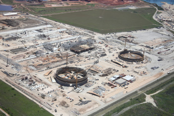 Corpus Christie LNG terminal during the construction phase.
