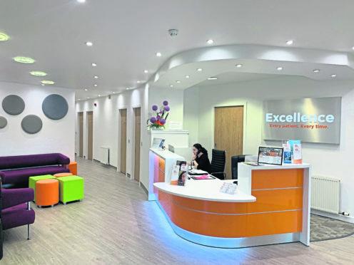 The reception at a ROC health facility