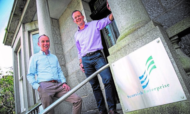 L-R Kevin Moran, managing director at Tymor Marine and Chris Cooper, account manager at Scottish Enterprise.