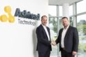 : Ashtead Technology CEO Allan Pirie with UCS general manager Fraser Collis