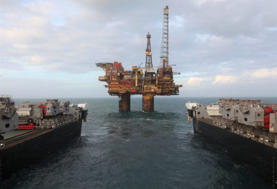 The Brent Bravo topsides were removed earlier this year.