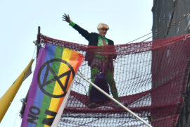 Extinction Rebellion protestor scales Big Ben