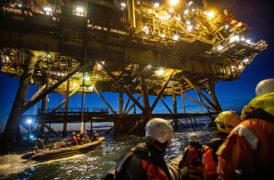 Protestors will remain on Shell's Brent platforms 'as long as needed' – Greenpeace