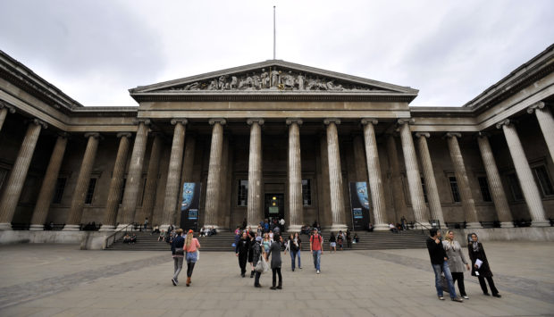General view of the British Museum in Bloomsbury, London.