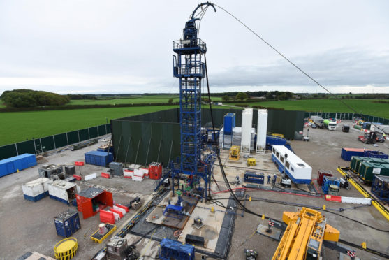 File photo of the Cuadrilla hydraulic fracturing site at Preston New Road shale gas exploration site in Lancashire. Cuadrilla/PA Wire