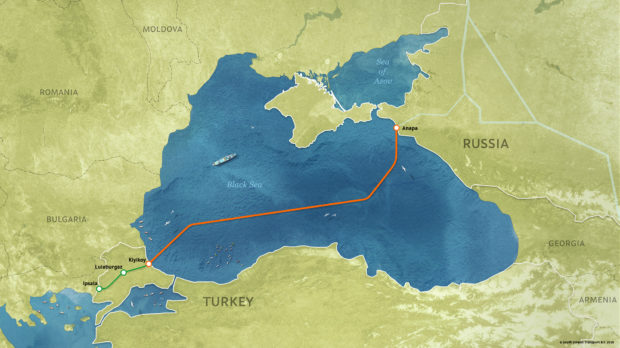 TurkSteam starts on the Russian coast near the town of Anapa stretching 578miles through the Black Sea to the Thrace region of Turkey where the Petrofac facility lies.