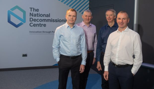 Pictured is (l to r): Martyn Tulloch, Roger Esson, Richard Neilson, Russell Stevenson.