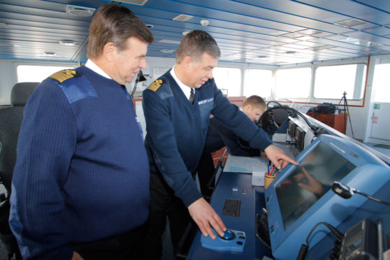 A Sovcomflot vessel navigates the Northern Sea Route (NSR)