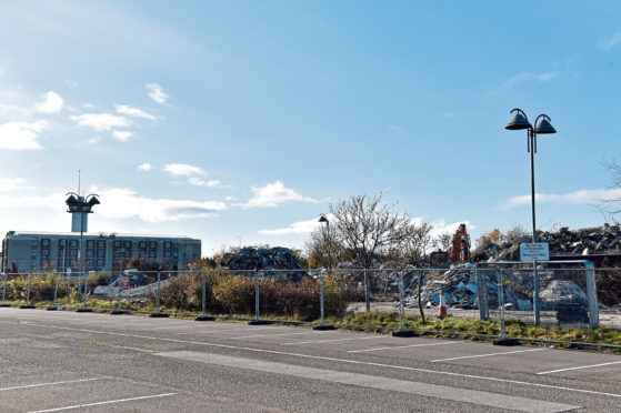 Silverburn House in Bridge of Don has been demolished as developers shape proposals for the site which they expect to submit later this year