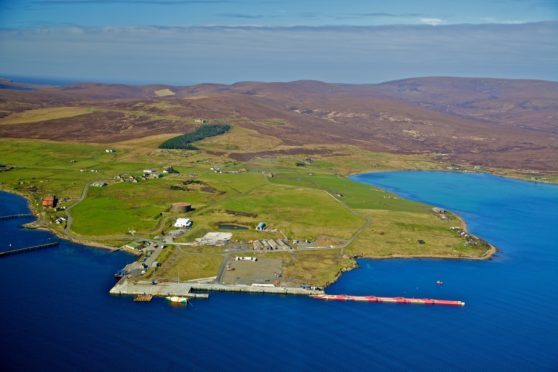 Lyness on Hoy. Orkney Islands Council hopes to redevelop the site for oil and gas decommissioning projects.