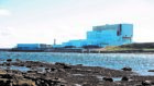 A view of Torness nuclear power station from Skateraw harbour near Dunbar, East Lothian.