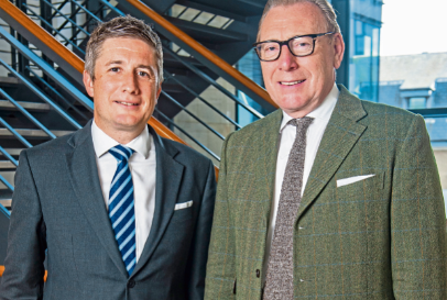 Fraser Porter, left, with new non-executive chairman Benny Higgins