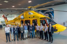NHV takes delivery of new H175 helicopter in Aberdeen