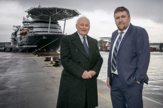 Montrose Port  chairman John Carmichael and chief executive Tom Hutchison.