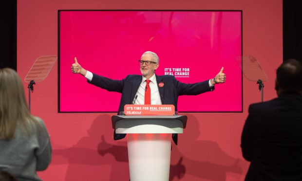 Labour Party leader Jeremy Corbyn during the launch of his party's manifesto in Birmingham. PA Photo. Picture date: Thursday November 21, 2019. See PA story POLITICS Election. Photo credit should read: Joe Giddens/PA Wire