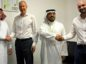 left to right: STATS Group Safari -1 left to right: Safari Oil and Gas CEO Mohammed Al-Ghosain , STATS Group CEO Leigh Howarth, Ali Al-Azman, Safari Oil and Gas Vice President - Operations and Business Development, and Mark Gault, STATS Group General Manager for Middle East.