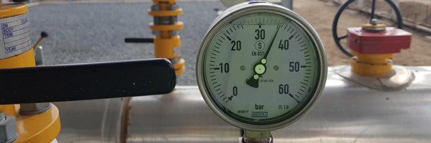 Gas inlet pressure at Kinyerezi-1