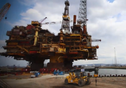 Watch: Shell's Brent Bravo loaded onto quay ahead of dismantling