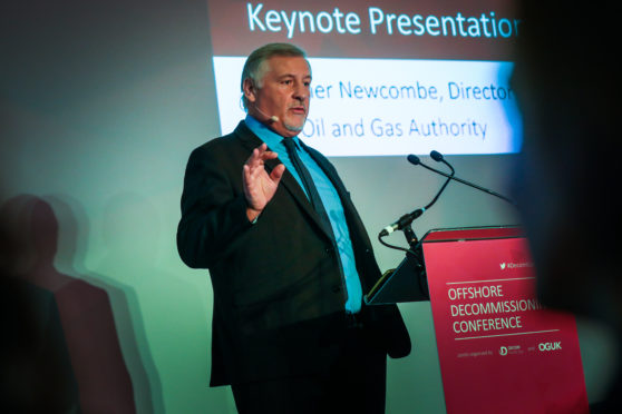 Gunther Newcombe at the Offshore Decommissioning Conference.