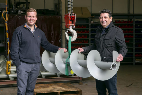 Kris Hunter (left), general manager, of Spiral Services, formerly Spirotech Aberdeen, and new CEO Neil Thomson.