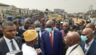 NNPC's Mele Kyari visits the Abule Egba disaster site