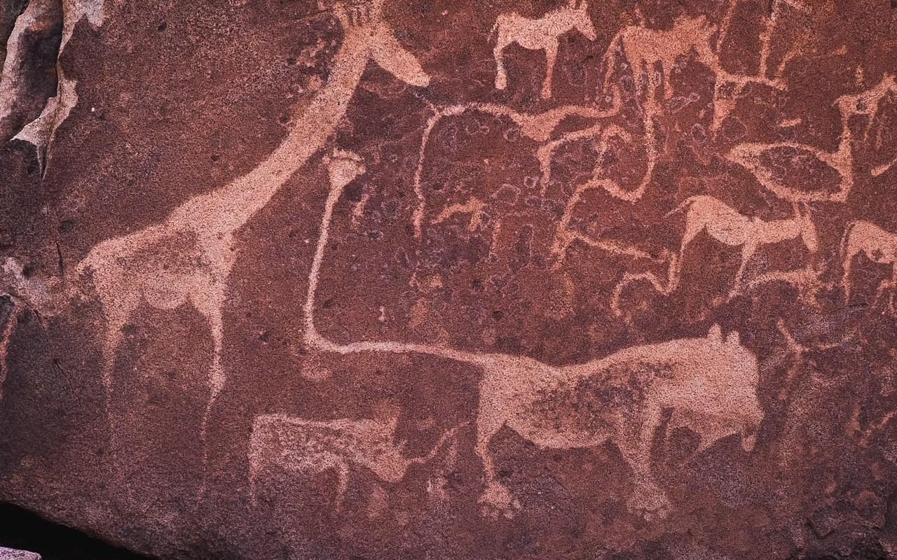 Namibia petroglyphs.
